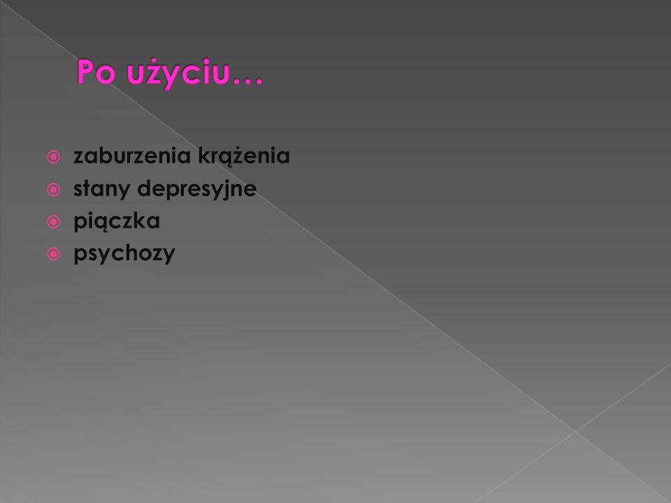 zaburzenia krążenia  stany depresyjne  piączka  psychozy
