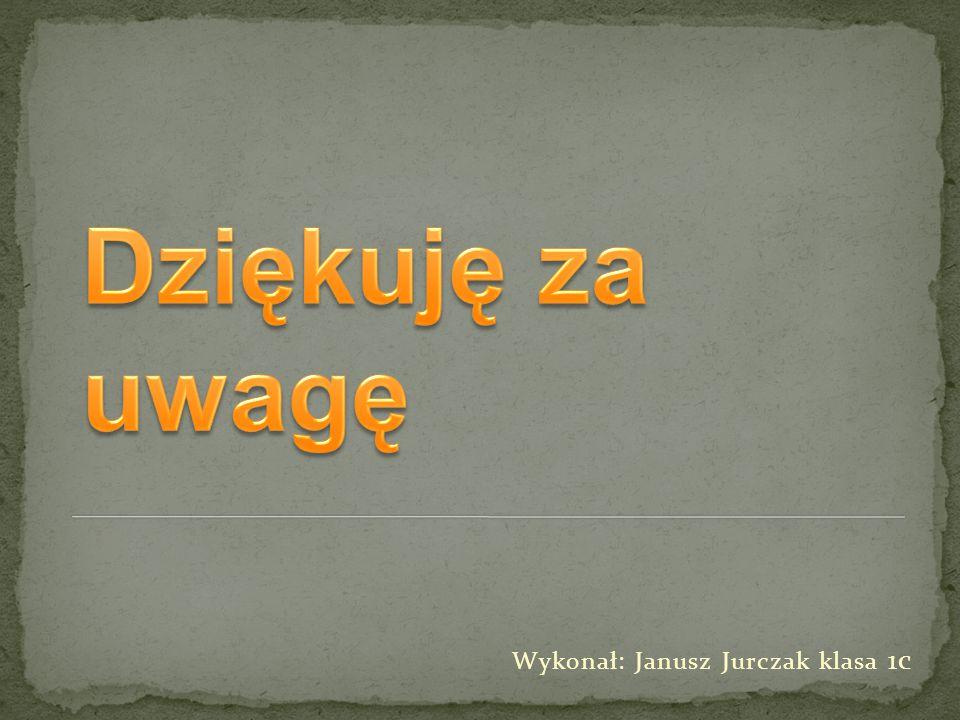Wykonał: Janusz Jurczak klasa 1c