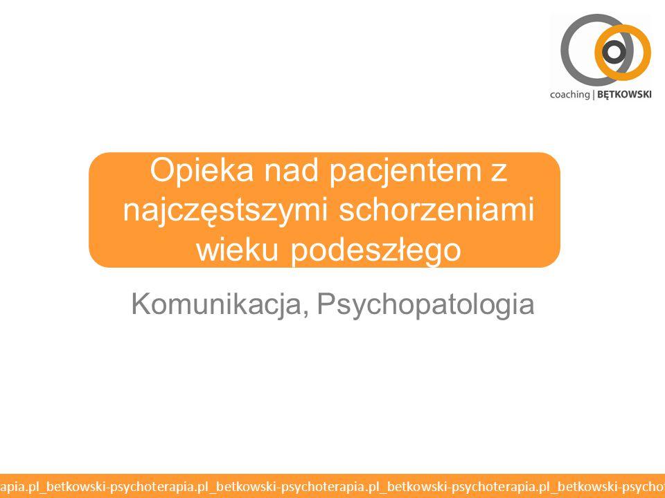 betkowski-psychoterapia.pl_betkowski-psychoterapia.pl_betkowski-psychoterapia.pl_betkowski-psychoterapia.pl_betkowski-psychoterapia.pl MMSE o Mini-Mental State Examination o Ocenia czynności poznawcze o Otępienie diagnozowane przy wyniku poniżej 25/30 punktów o Powyżej 90 lat wynik poniżej 23/30 punktów wskazuje na otępienie