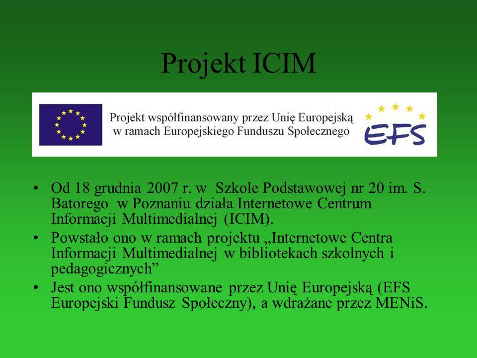 Projekt ICIM Od 18 grudnia 2007 r. w Szkole Podstawowej nr 20 im.