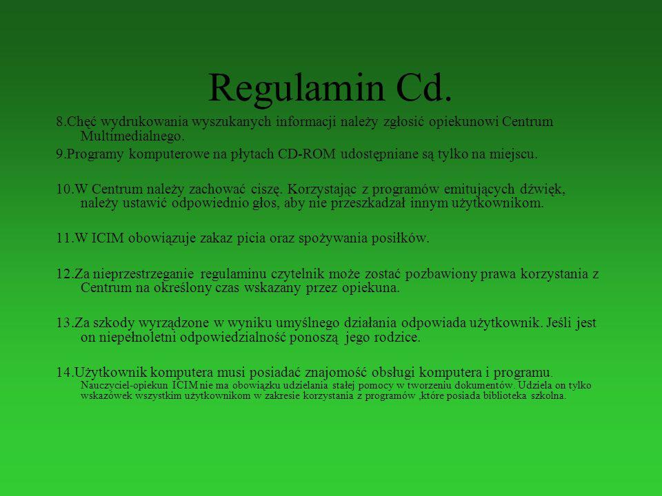 Regulamin Cd.