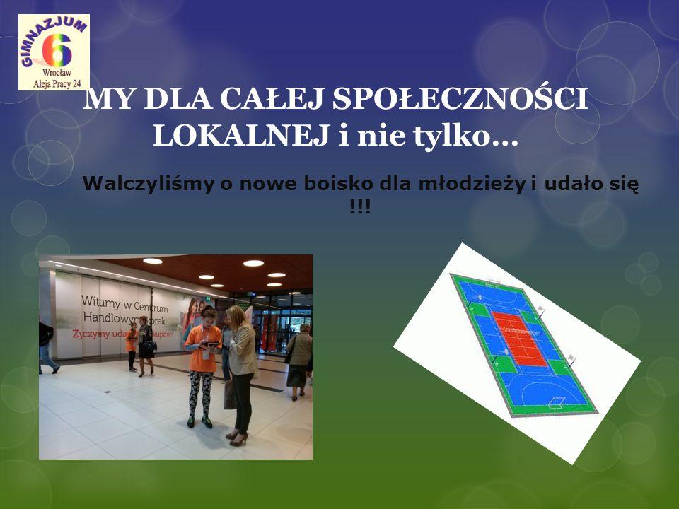 MY DLA CAŁEJ SPOŁECZNOŚCI LOKALNEJ i nie tylko… Walczyliśmy o nowe boisko dla młodzieży i udało się !!!