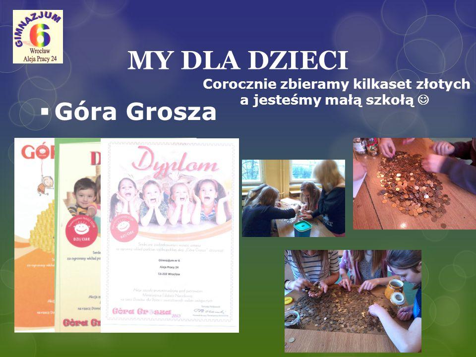 """MY DLA DZIECI  Akcja """"Liczy się wnętrze  Współpraca z fundacją KAIROS, zbiórka słodyczy i przyborów szkolnych dla potrzebujących dzieci."""
