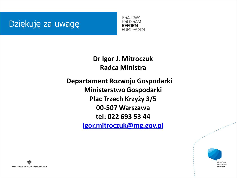 wstęp 01 Dziękuję za uwagę Dr Igor J.