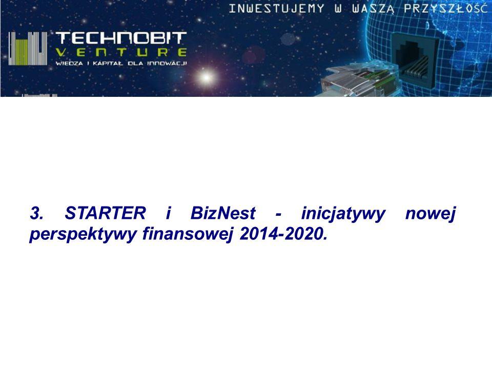 3. STARTER i BizNest - inicjatywy nowej perspektywy finansowej 2014-2020.