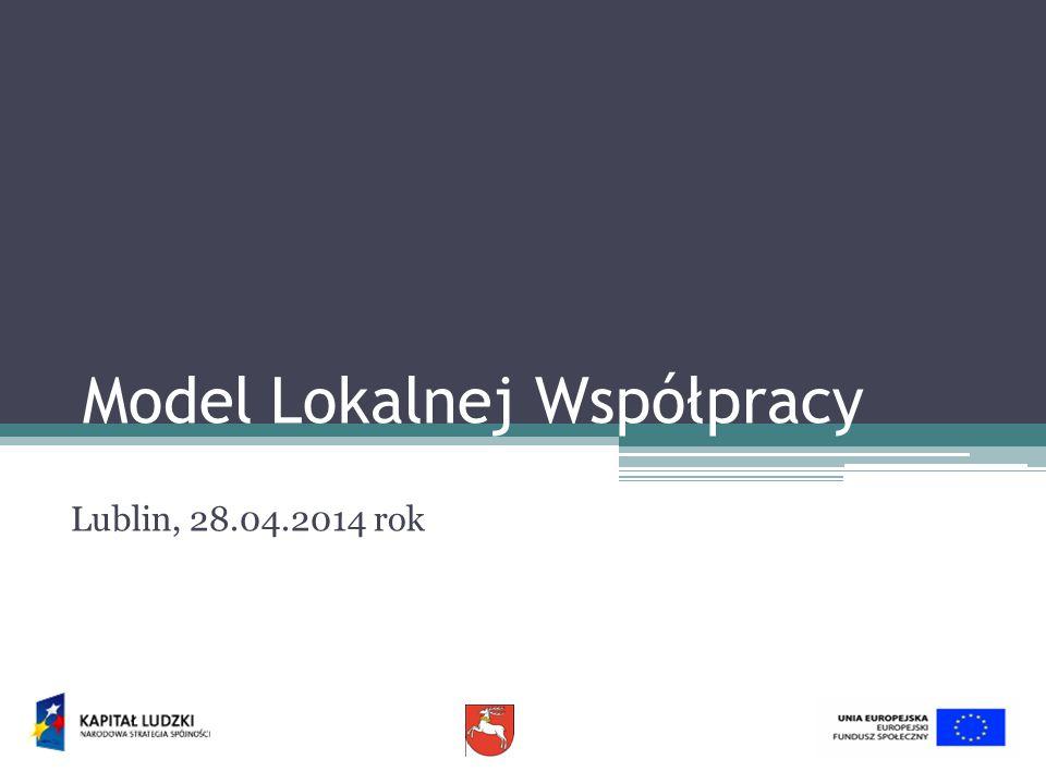 Model Lokalnej Współpracy Lublin, 28.04.2014 rok