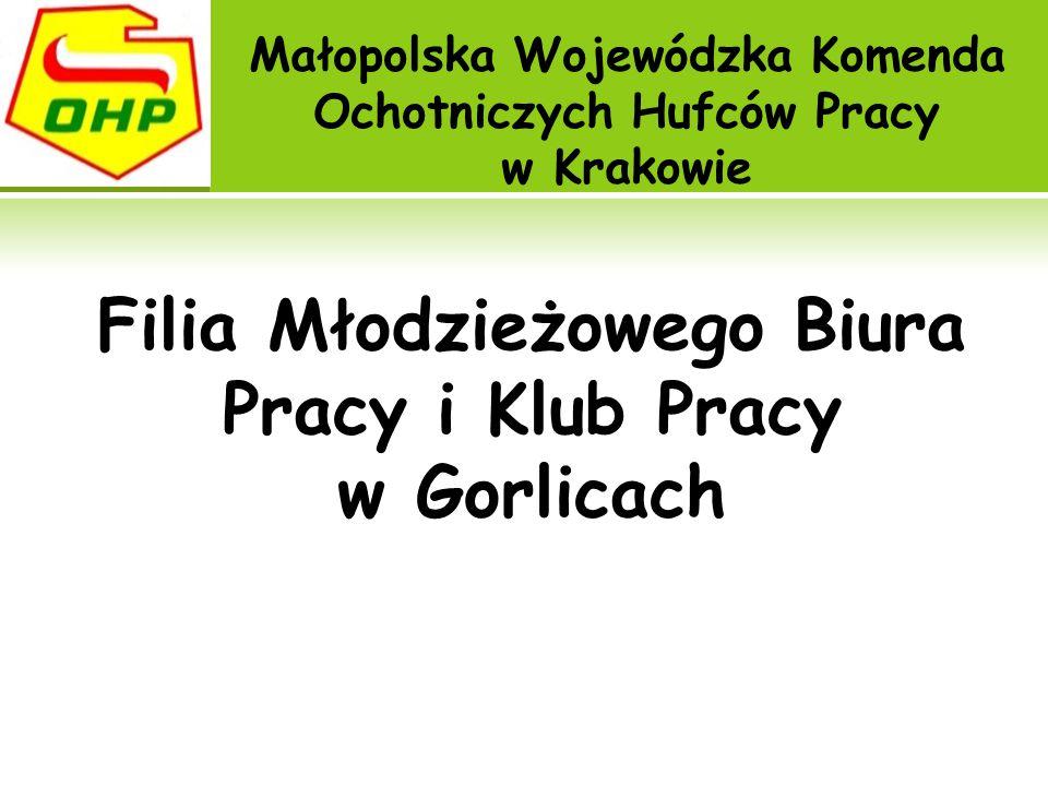 Filia Młodzieżowego Biura Pracy i Klub Pracy w Gorlicach Małopolska Wojewódzka Komenda Ochotniczych Hufców Pracy w Krakowie