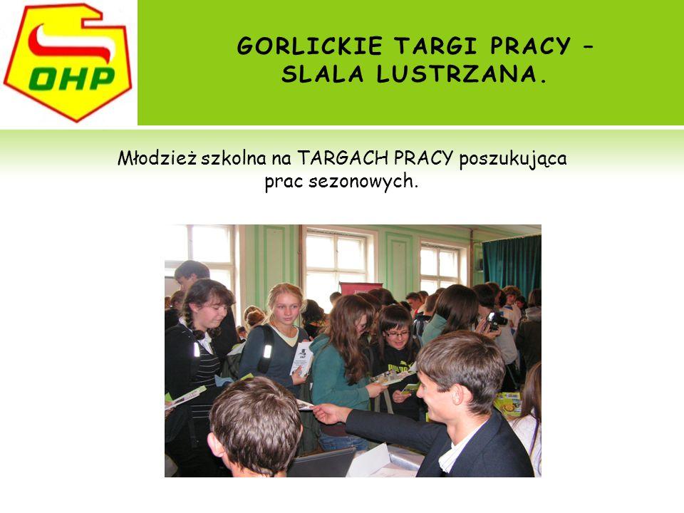 GORLICKIE TARGI PRACY – SLALA LUSTRZANA. Młodzież szkolna na TARGACH PRACY poszukująca prac sezonowych.