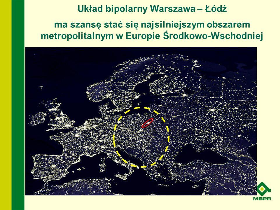 Układ bipolarny Warszawa – Łódź ma szansę stać się najsilniejszym obszarem metropolitalnym w Europie Środkowo-Wschodniej