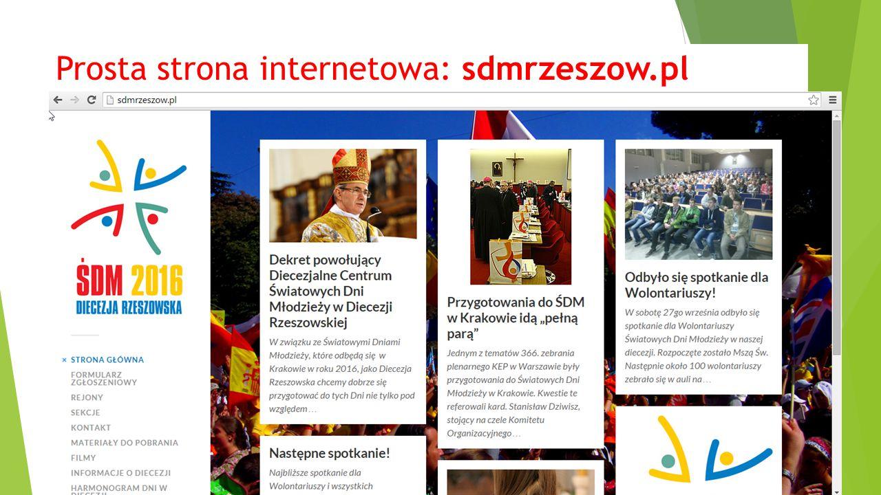 Prosta strona internetowa: sdmrzeszow.pl