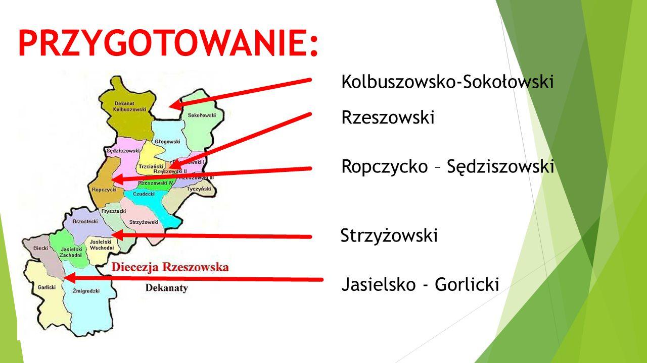PRZYGOTOWANIE: Kolbuszowsko-Sokołowski Rzeszowski Ropczycko – Sędziszowski Strzyżowski Jasielsko - Gorlicki