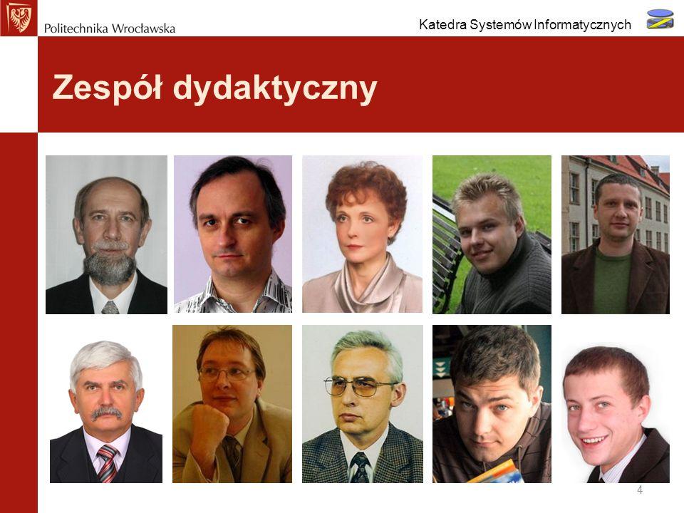 Zespół dydaktyczny 4 Katedra Systemów Informatycznych