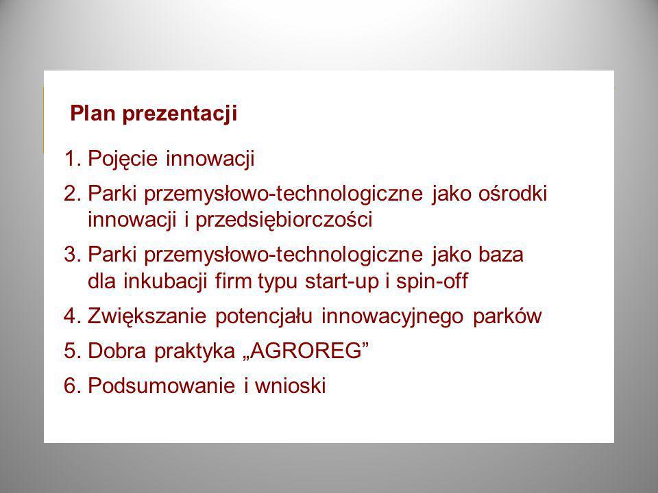 Plan prezentacji 1. Pojęcie innowacji 2.