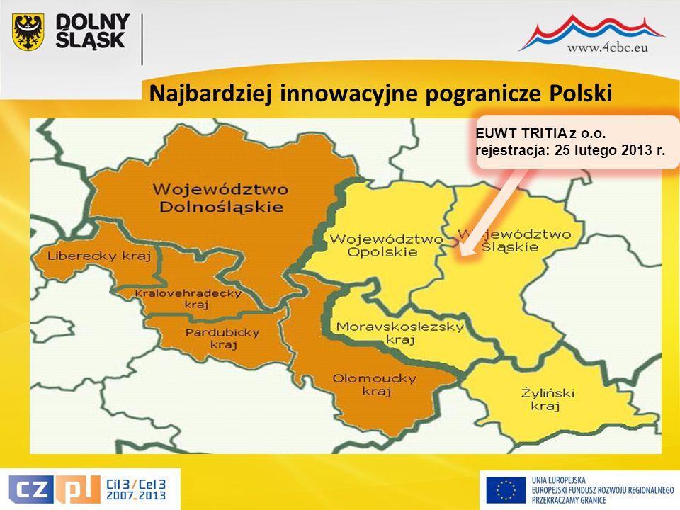 13 Najbardziej innowacyjne pogranicze Polski EUWT TRITIA z o.o. rejestracja: 25 lutego 2013 r.
