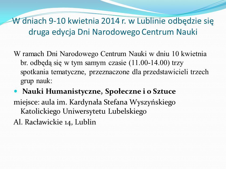 W dniach 9-10 kwietnia 2014 r.