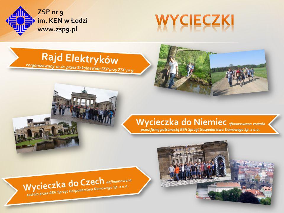 ZSP nr 9 im.KEN w Łodzi www.zsp9.pl Rajd Elektryków zorganizowany m.in.