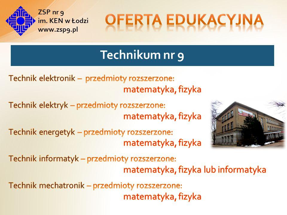 Absolwent szkoły będzie przygotowany do wykonywania następujących zadań zawodowych: instalowania oraz konserwowania urządzeń elektronicznych; użytkowania urządzeń elektronicznych; naprawy urządzeń elektronicznych.