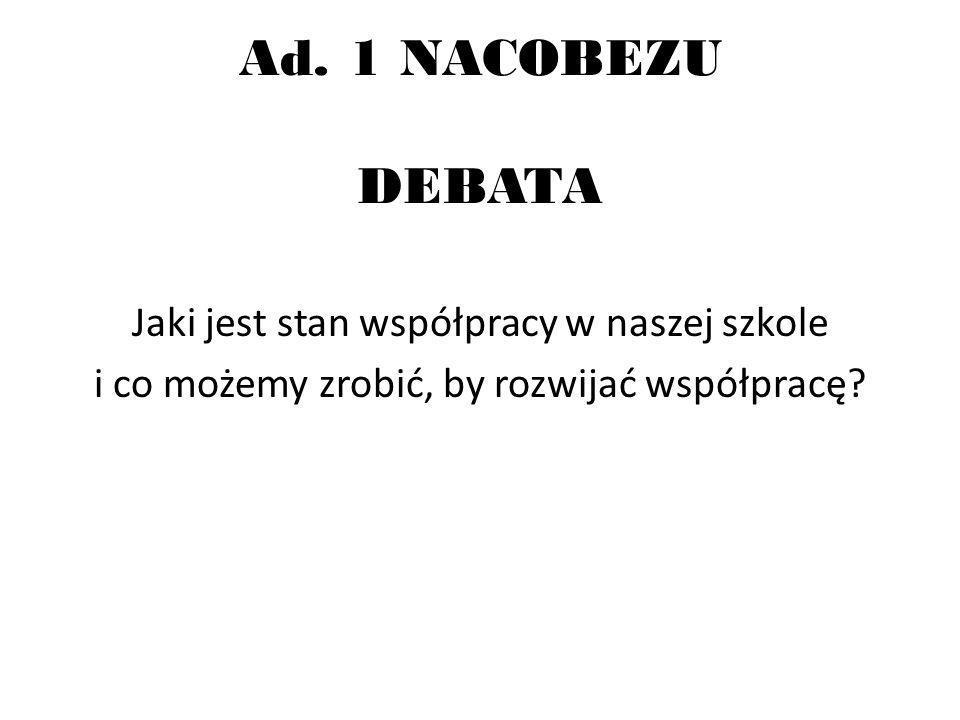 DEBATA- INSTRUKCJA 1.Podział na grupy.2.Wybór sekretarza.