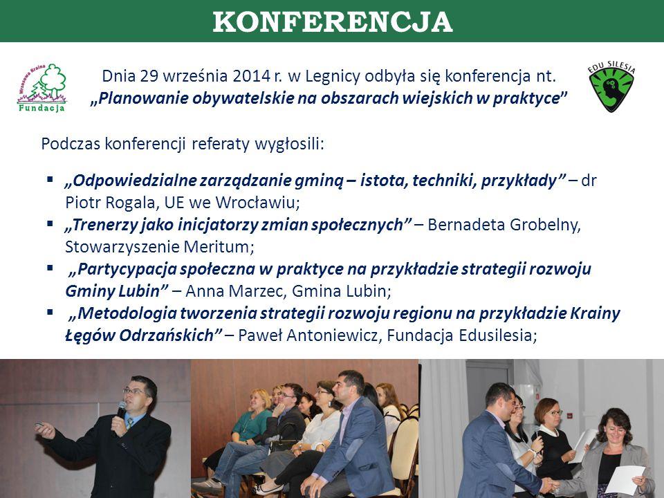 Dnia 29 września 2014 r. w Legnicy odbyła się konferencja nt.