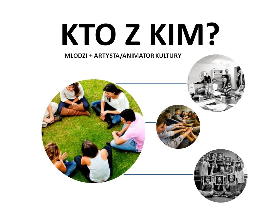 MŁODZI + ARTYSTA/ANIMATOR KULTURY KTO Z KIM