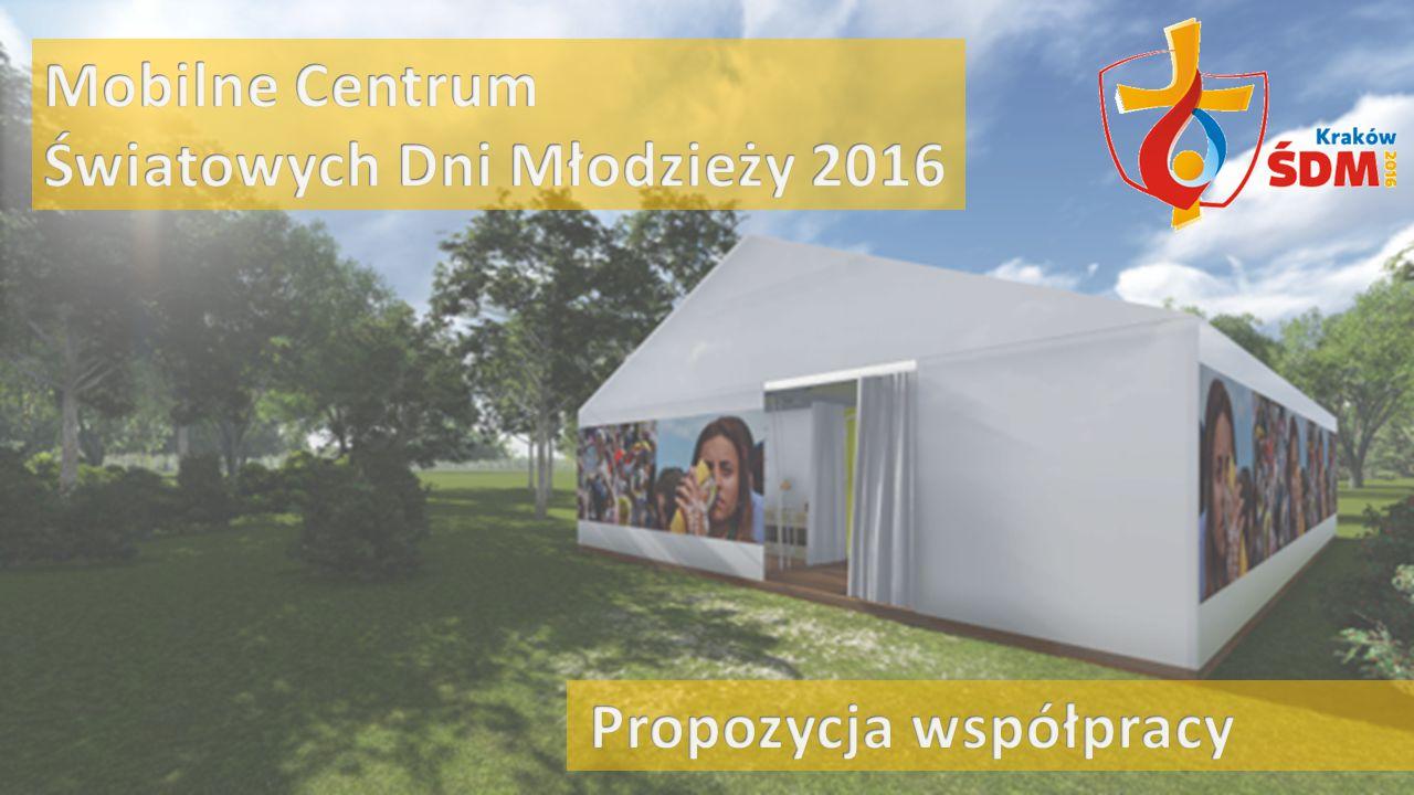 Opis projektu Mobilne centrum Światowych Dni Młodzieży (ŚDM) zorganizowane zostanie w namiocie stawianym w różnych miastach południowej Polski na czas kilku miesięcy.