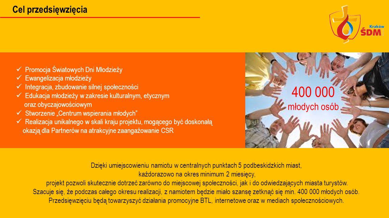 Promocja Światowych Dni Młodzieży Ewangelizacja młodzieży Integracja, zbudowanie silnej społeczności Edukacja młodzieży w zakresie kulturalnym, etyczn