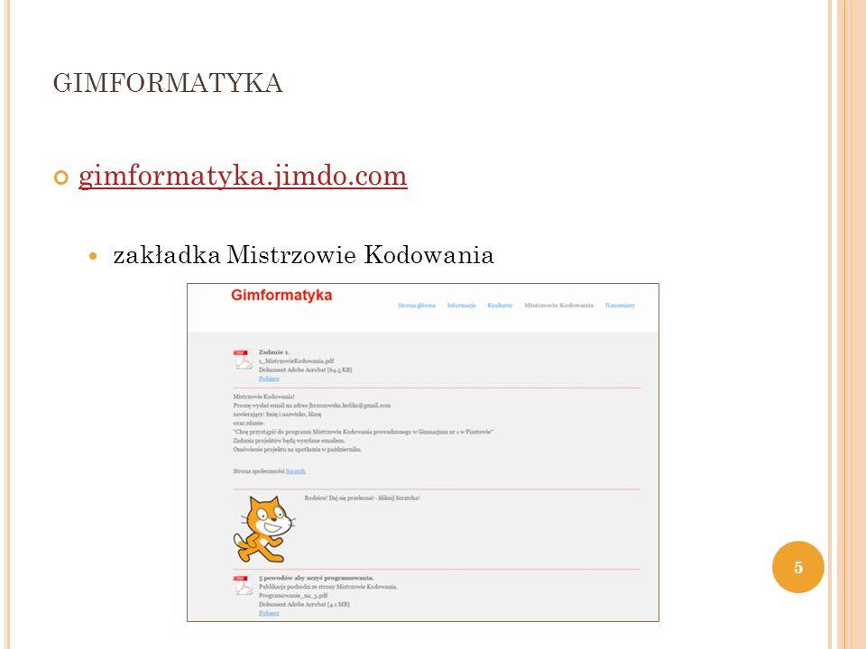 GIMFORMATYKA gimformatyka.jimdo.com zakładka Mistrzowie Kodowania 5