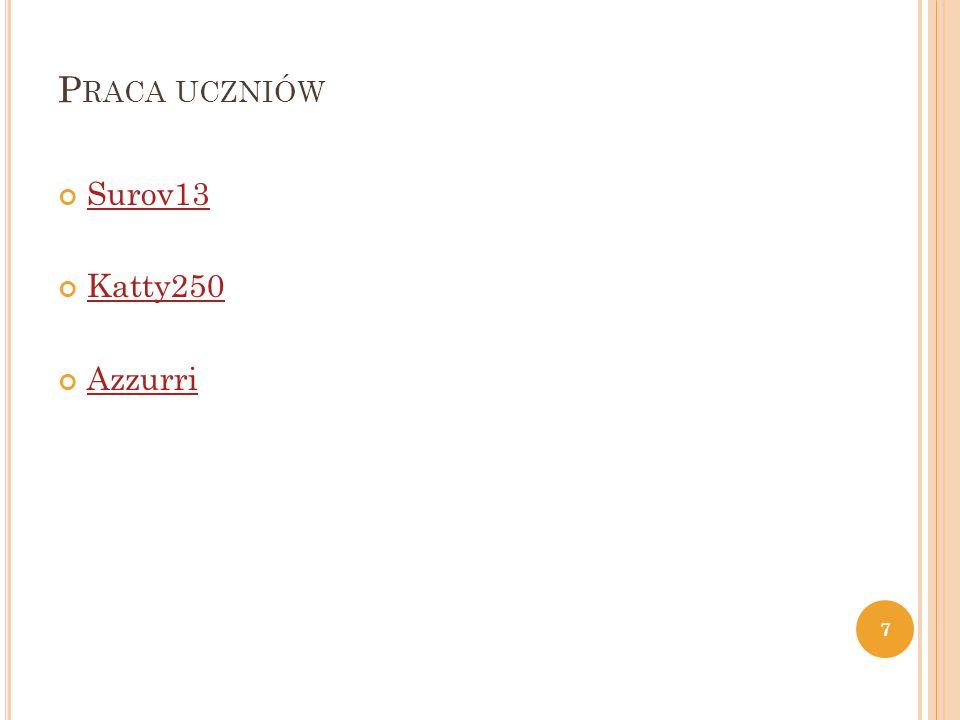 P RACA UCZNIÓW Surov13 Katty250 Azzurri 7