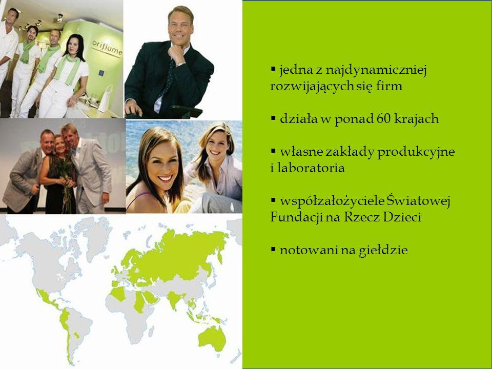  jedna z najdynamiczniej rozwijających się firm  działa w ponad 60 krajach  własne zakłady produkcyjne i laboratoria  współzałożyciele Światowej Fundacji na Rzecz Dzieci  notowani na giełdzie