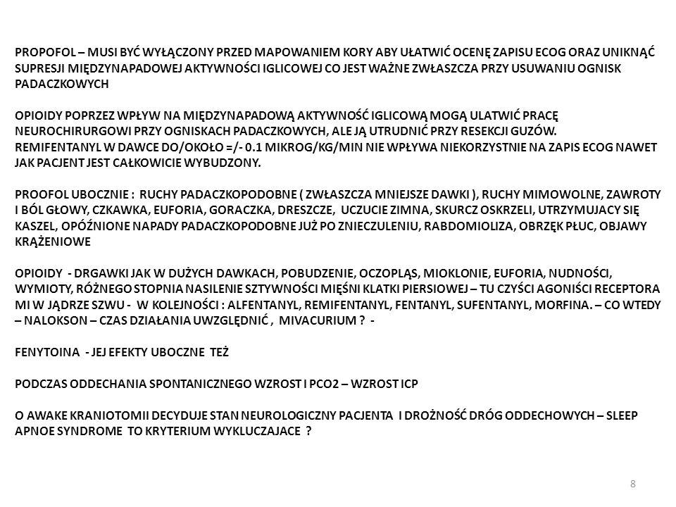 SKALP BLOK ( RSB ) 1.JEDNO - LUB OBUSTRONNY ( 25/30 - 50/60 ML LA ) 2.AWAKE CRANIOTOMY - KLUCZOWY ELEMENT SUKCESU I KOMFORTU PACJENTA.