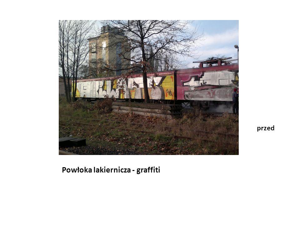 Powłoka lakiernicza - graffiti po