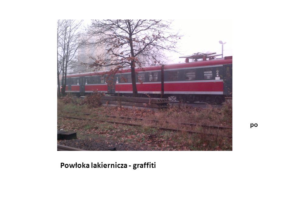 Powłoka lakiernicza - graffiti przed
