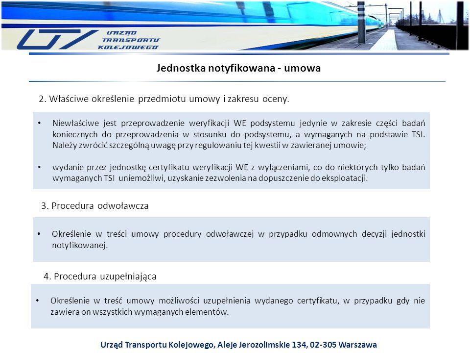 Urząd Transportu Kolejowego, Aleje Jerozolimskie 134, 02-305 Warszawa 2.