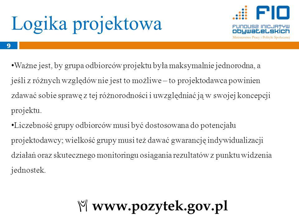 20 Rezultaty odzwierciedlają efekty, które powstaną w wyniku podjętych działań w ramach projektu, czyli np.
