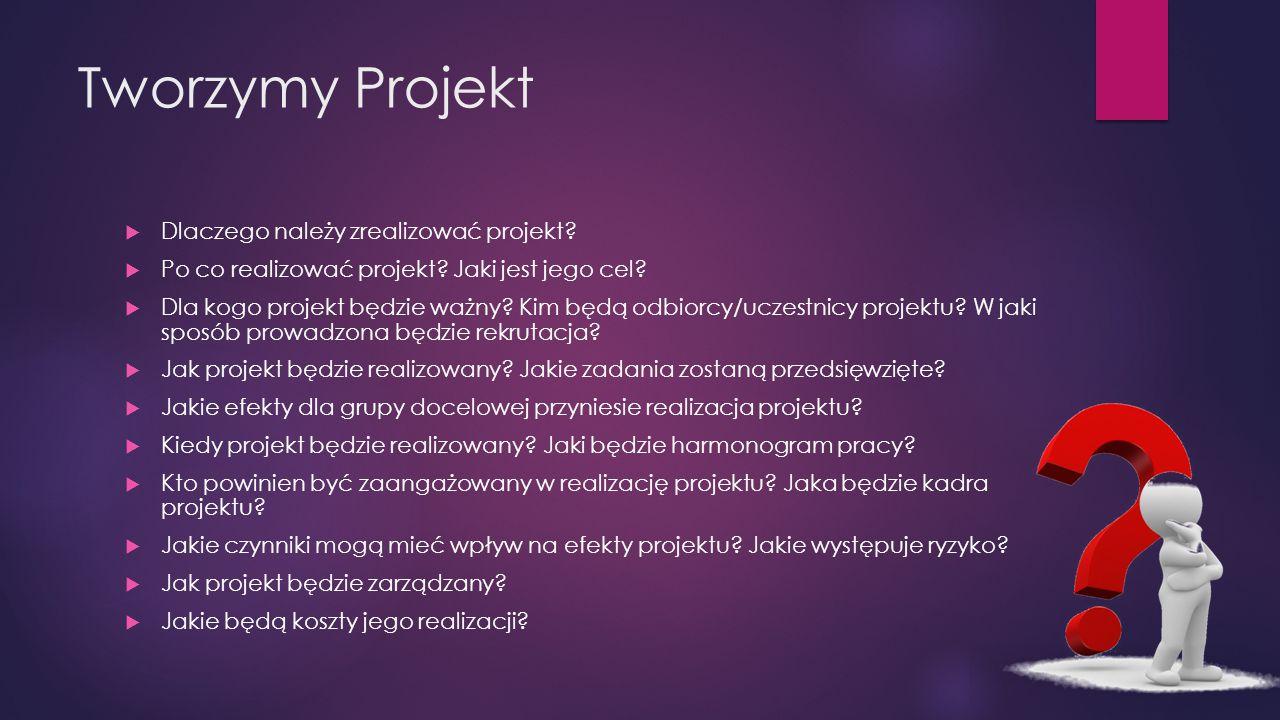 Tworzymy Projekt  Dlaczego należy zrealizować projekt.