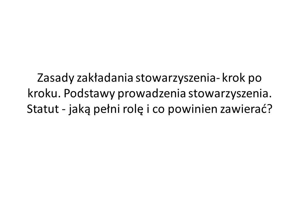 Stowarzyszenie Zgodnie z art.19 ust.