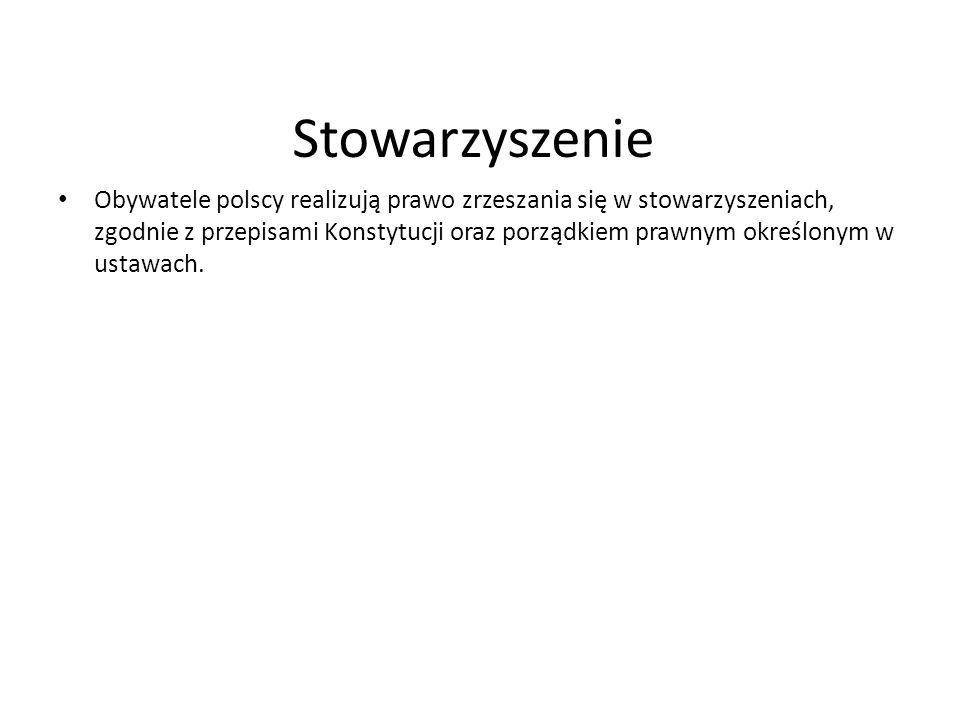 Stowarzyszenie Obywatele polscy realizują prawo zrzeszania się w stowarzyszeniach, zgodnie z przepisami Konstytucji oraz porządkiem prawnym określonym