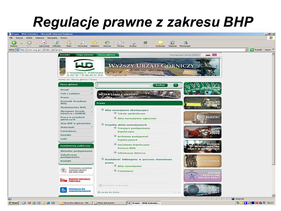 Regulacje prawne z zakresu BHP