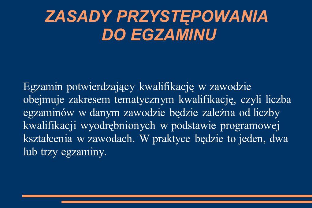 PONOWNE PRZYSTĘPOWANIE DO EGZAMINU Po ukończeniu szkoły można jeszcze ponownie przystąpić do egzaminu tylko dwukrotnie na zasadach określonych dla absolwentów.