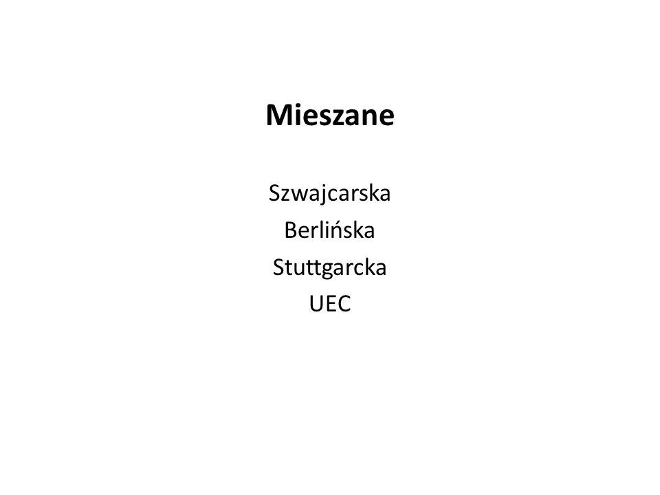 Mieszane Szwajcarska Berlińska Stuttgarcka UEC