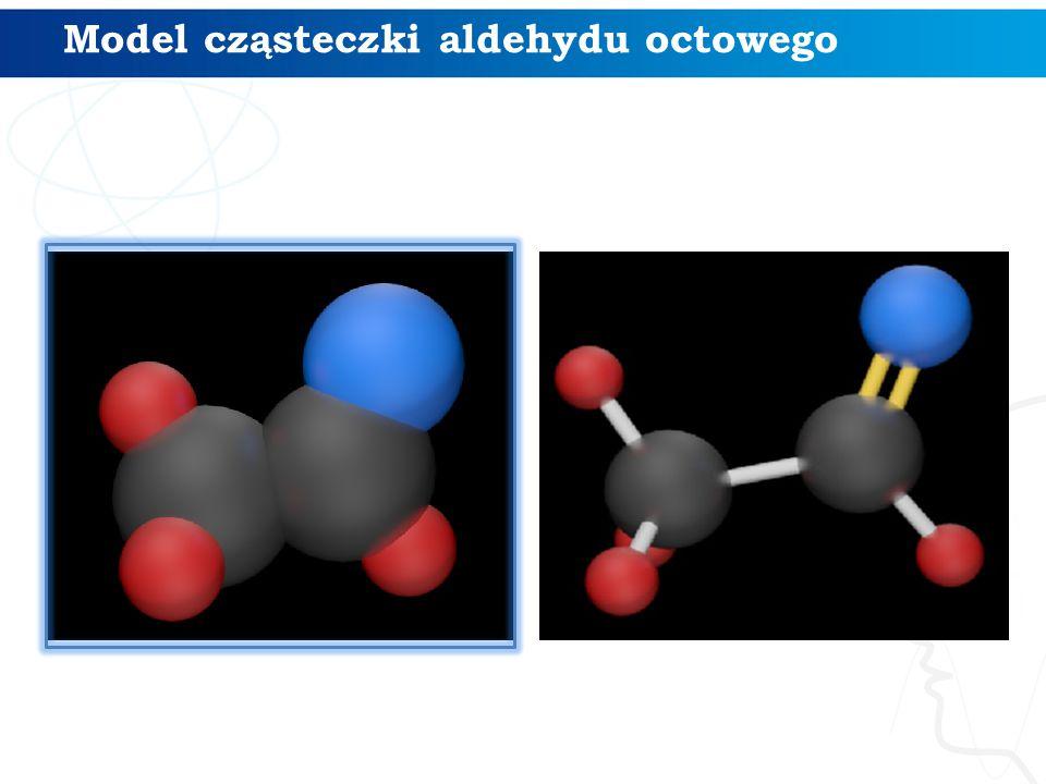 Model cząsteczki aldehydu octowego