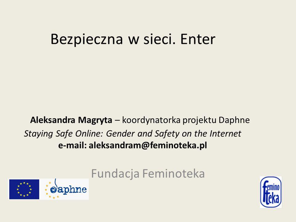 Bezpieczna w sieci.