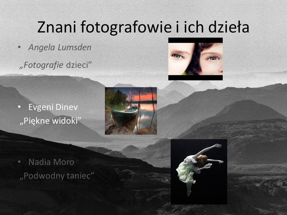 """Znani fotografowie i ich dzieła Angela Lumsden """"Fotografie dzieci Evgeni Dinev """"Piękne widoki Nadia Moro """"Podwodny taniec"""