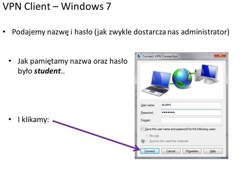 Jeśli nie możemy się połączyć, to problemem może być konfiguracja serwera.