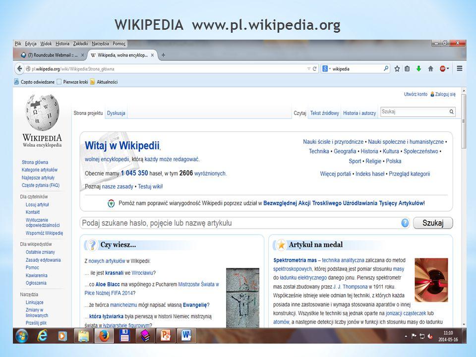 WIKIPEDIA www.pl.wikipedia.org