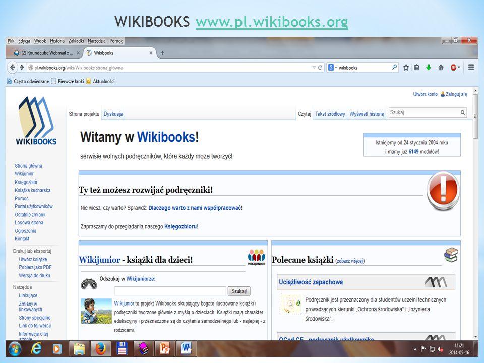 WIKIBOOKS www.pl.wikibooks.orgwww.pl.wikibooks.org