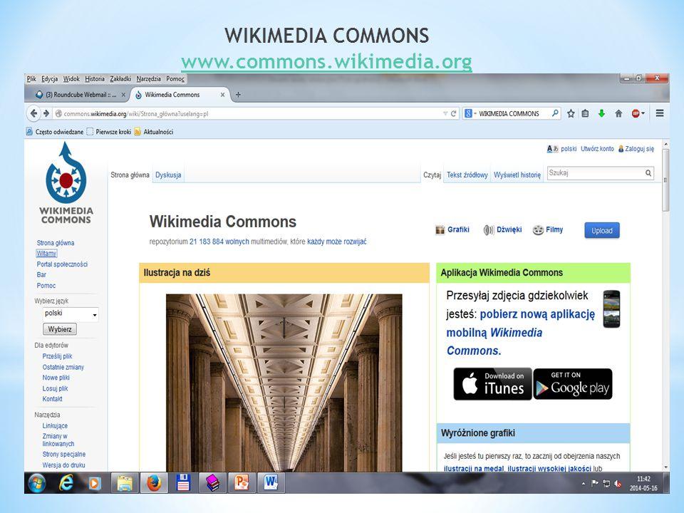 WIKIMEDIA COMMONS www.commons.wikimedia.org www.commons.wikimedia.org