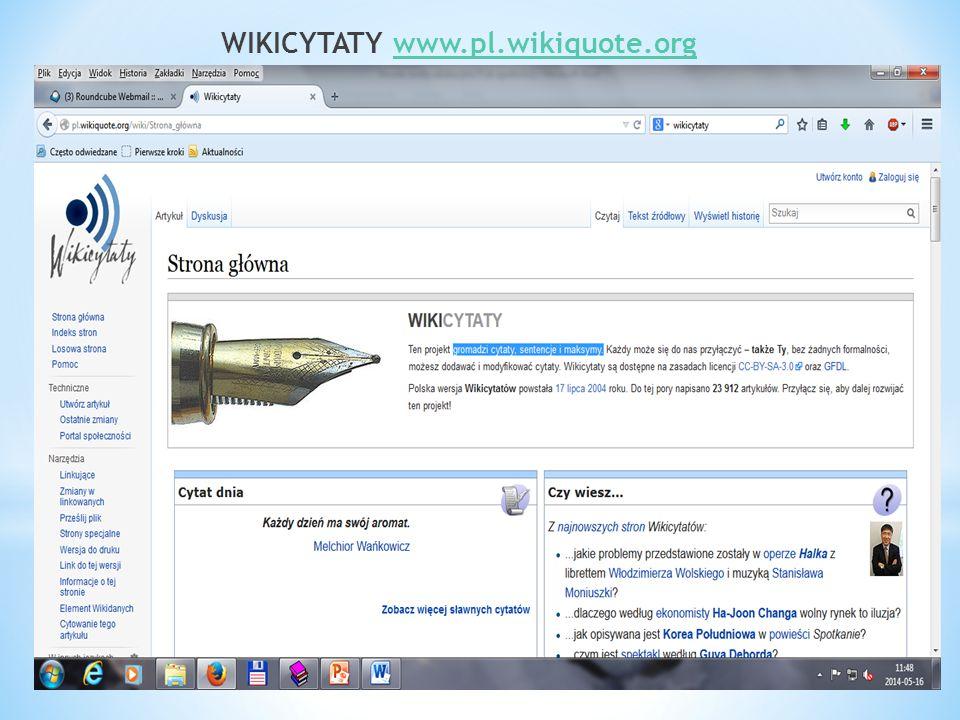 WIKICYTATY www.pl.wikiquote.orgwww.pl.wikiquote.org