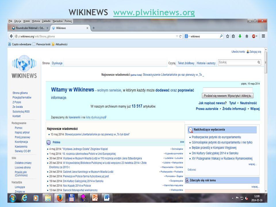 WIKINEWS www.plwikinews.orgwww.plwikinews.org