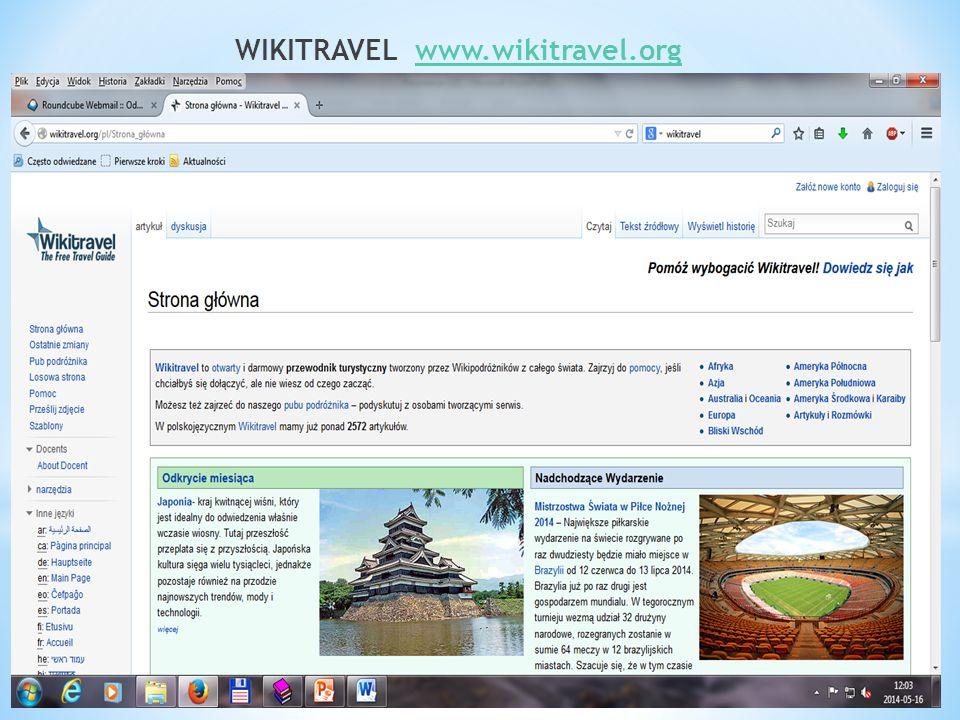 WIKITRAVEL www.wikitravel.orgwww.wikitravel.org
